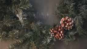 Arbre de Noël avec le sapin-cône clips vidéos