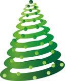 Arbre de Noël avec les billes ornementales illustration libre de droits