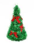 Arbre de Noël avec les proues rouges Images libres de droits