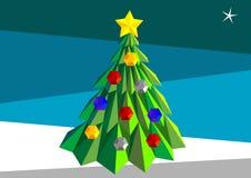 Arbre de Noël bas poly Photos stock