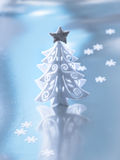 Arbre de Noël blanc décoratif image stock