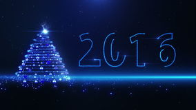 Arbre de Noël bleu banque de vidéos