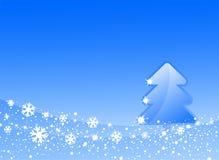 arbre de Noël bleu Images libres de droits