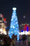 Arbre de Noël, bokeh brouillé de photo Photo libre de droits