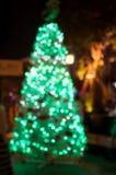 Arbre de Noël, bokeh brouillé de photo Photographie stock libre de droits