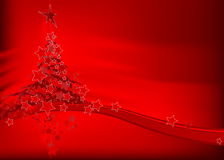 Arbre de Noël - carte de Noël Photographie stock