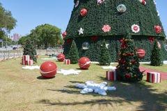 Arbre de Noël chez Ibirapuera dans la ville de Sao Paulo Photos libres de droits