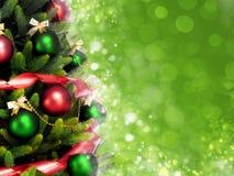 Arbre de Noël comme par magie décoré Image stock