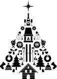 Arbre de Noël composé  Photographie stock libre de droits