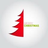Arbre de Noël coupé du livre blanc Élément de conception pour le holida Photographie stock libre de droits
