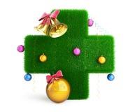 Arbre de Noël croisé médical Images libres de droits