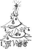 Arbre de Noël décoré illustration libre de droits