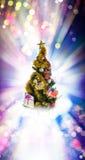 Arbre de Noël décoré Photo stock