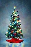 Arbre de Noël décoré Photo libre de droits