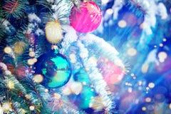 Arbre de Noël décoré Images stock