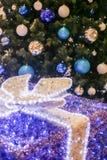 Arbre de Noël décoré Photographie stock