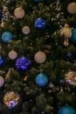 Arbre de Noël décoré Images libres de droits