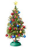 Arbre de Noël décoré avec la guirlande débranchée Photo stock