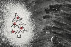 Arbre de Noël décoré des canneberges photographie stock