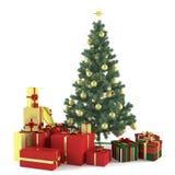Arbre de Noël décoré des jouets Photographie stock libre de droits