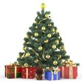 Arbre de Noël décoré des jouets Photos stock