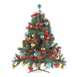 Arbre de Noël décoré des jouets Photo libre de droits