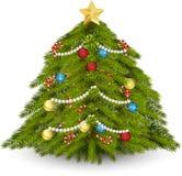 Arbre de Noël décoré illustration de vecteur