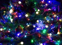 Arbre de Noël décoré, plan rapproché image libre de droits