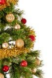 Arbre de Noël décoré sur le fond blanc Photo stock