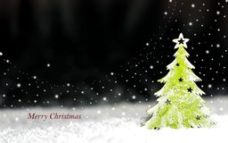 Arbre de Noël décoratif sur un fond foncé Photographie stock