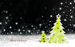 Arbre de Noël décoratif sur un fond foncé Images stock