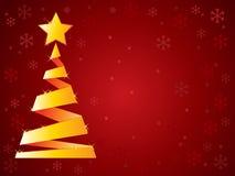 Arbre de Noël d'or Photo libre de droits