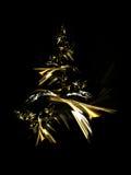 Arbre de Noël d'or Photographie stock libre de droits