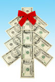 Arbre de Noël d'argent Images libres de droits