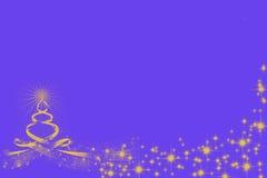 Arbre de Noël d'or dessiné par des cercles avec Santa Photographie stock
