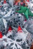 Arbre de Noël d'intérieur de Santa d'endroit de Hyatt d'étoile de LONGHU sur Noël 2012 Photos stock