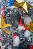 Arbre de Noël d'intérieur de Santa d'endroit de Hyatt d'étoile de LONGHU sur Noël 2012 Images stock