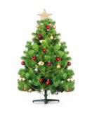 Arbre de Noël d'isolement. Image stock