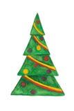 Arbre de Noël d'isolement illustration de vecteur