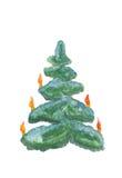Arbre de Noël d'isolement illustration stock