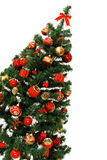 Arbre de Noël d'isolement sur le blanc Photo stock