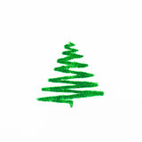 Arbre de Noël d'isolement sur le fond blanc Photographie stock libre de droits