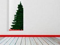 Arbre de Noël dans la chambre, 3d Photos stock
