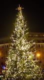 Arbre de Noël dans la ville Photo libre de droits