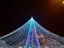 Arbre de Noël dans la ville de Poltava images libres de droits