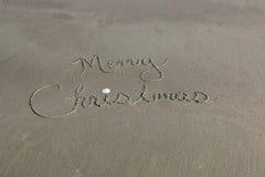 Arbre de Noël dans le sable Images libres de droits