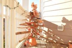 Arbre de Noël de bois de flottage photographie stock