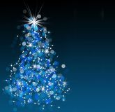 Arbre de Noël de Bokeh image stock