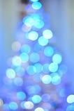 Arbre de Noël de Bokeh Photographie stock