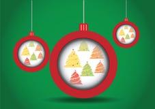 Arbre de Noël de boules de Noël Image libre de droits
